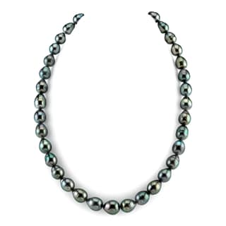 Radiance Pearl 14k Gold Baroque Tahitian South Sea Pearl Necklace (8-10mm)