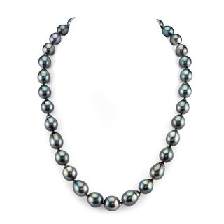 Radiance Pearl 14k Gold Baroque Tahitian South Sea Pearl Necklace (9-11mm)