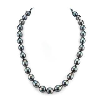 Radiance Pearl 14k Gold Baroque Tahitian South Sea Pearl Necklace (9-11mm)|https://ak1.ostkcdn.com/images/products/10517350/P17601457.jpg?impolicy=medium