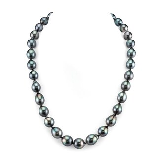 Radiance Pearl 14k Gold Baroque Tahitian South Sea Pearl Necklace (9-11mm) (Option: 16 Inch)