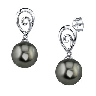 Radiance Pearl 14k Gold Tahitian South Sea Pearl Earrings (9-10 mm, 10-11 mm)