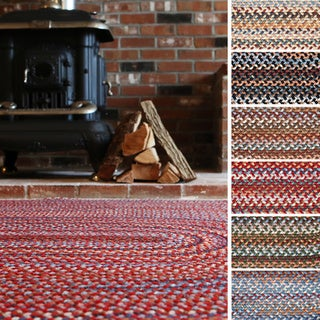 Augusta Oval Braided Wool Rug by Rhody Rug (2' x 4')