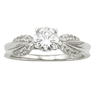 H Star Sterling Silver 1ct Diamagem Ring