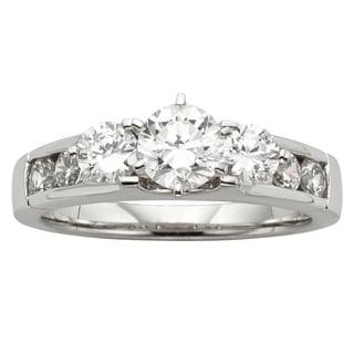 H Star Sterling Silver 1 1/5ct Diamagem 3-stone Ring