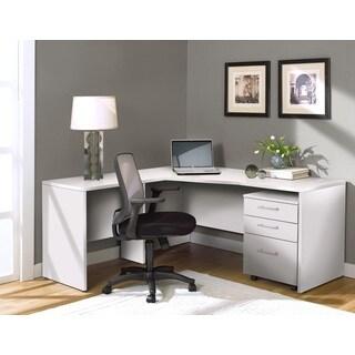 White Corner L Shaped Desk