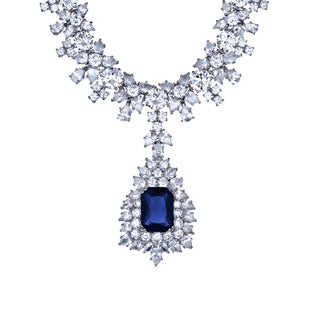 Fancy Cubic Zirconia Sapphire Necklace