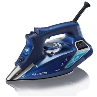 Rowenta DW9280 Blue Steam Focus Iron 1800-Watt with 400-Hole Stainless Steel Soleplate