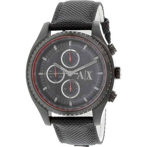 Armani Exchange Men's Chronograph Black Dial Black Nylon Watch AX1610
