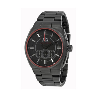 Armani Exchange Men's Chronograph Black Dial Black Stainless Steel Bracelet Watch AX1801