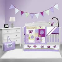 Lavender Butterfly 10-Piece Bedding Set - Pam Grace Creations