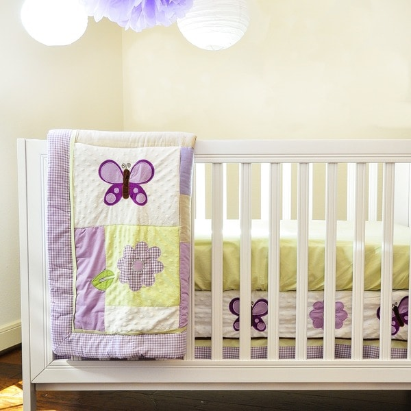 Pam Grace Creations Lavender Butterfly 10-Piece Bedding Set