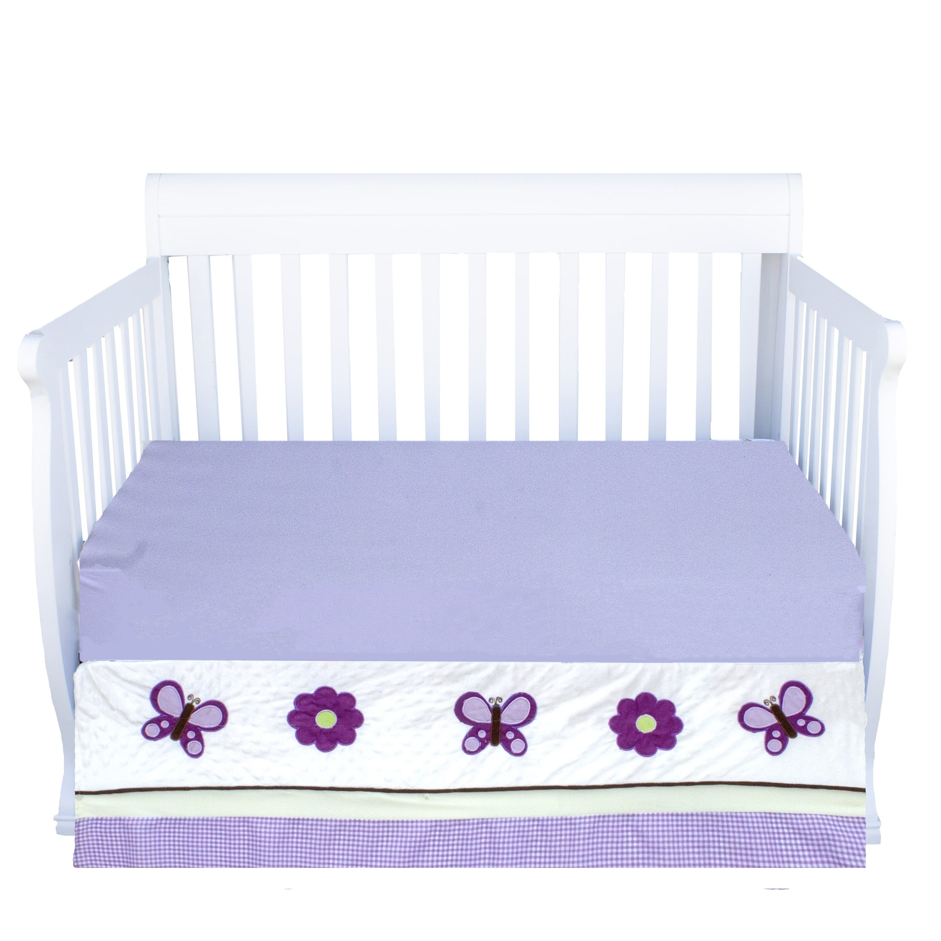 Image of: Shop Black Friday Deals On Pam Grace Creations Lavender Butterfly Crib Bedding Set Overstock 10517632