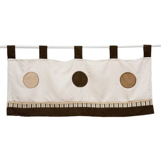 Pam Grace Creations Cappuccino Window Curtain Valance