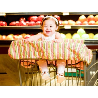 Pam Grace Creations Stripe Grocery Cart Cover
