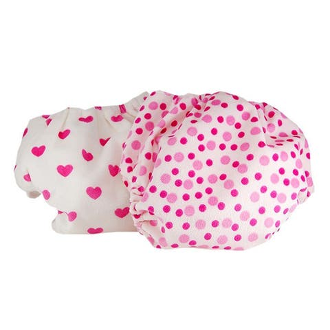 Baby Cloth Diapers One Size Adjustable Washable Reusable for Baby Girls 2 Pack with 4 Inserts