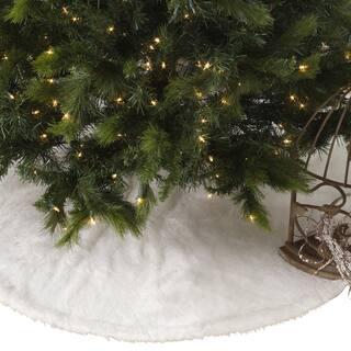 Noel Blanc Faux Fur Design White Holiday Christmas Tree Skirt|https://ak1.ostkcdn.com/images/products/10517763/P17601717.jpg?impolicy=medium