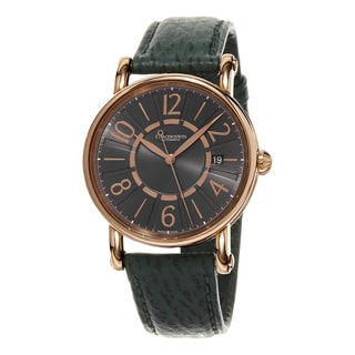 Chronoswiss Women's CH-2821-LLRCLGR2 'Classic' Grey Dial Green Leather Strap Rose Gold Swiss Automatic Watch