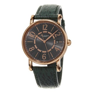 Chronoswiss Women's CH-2821-LLRCLGR2 'Classic' Grey Dial Green Leather Strap Rose Gold Swiss Automat