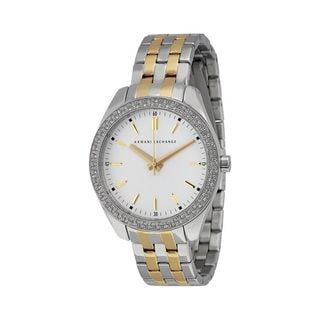 Armani Exchange Women's AX5519 'Active' Crystal Two-Tone Stainless Steel Watch
