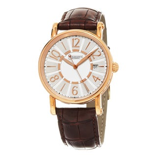 Chronoswiss Women's CH-2821LLRCLSI 'Classic' Silver Dial Brown Leather Strap Rose Gold Swiss Automatic Watch