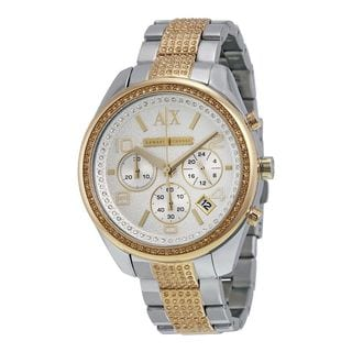 Armani Exchange Women's AX5518 'Active' Chronograph Crystal Two-Tone Stainless Steel Watch