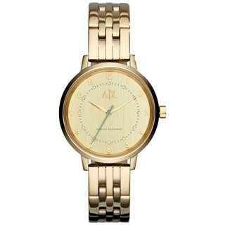 Armani Exchange Women's AX5361 'Smart' Crystal Gold-Tone Stainless Steel Watch
