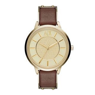 Armani Exchange Women's AX5310 'Olivia' Brown Leather Watch|https://ak1.ostkcdn.com/images/products/10517784/P17601727.jpg?impolicy=medium