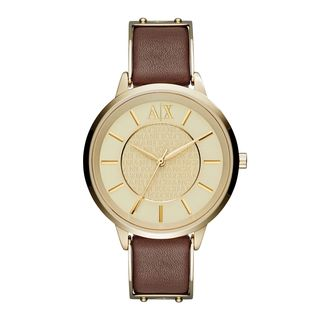 Armani Exchange Women's AX5310 'Olivia' Brown Leather Watch