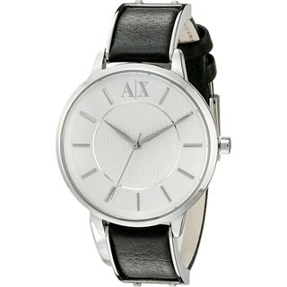 Armani Exchange Women's AX5309 'Olivia' Black Leather Watch
