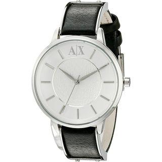 Armani Exchange Women's AX5309 'Olivia' Black Leather Watch