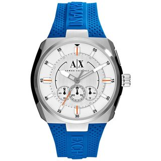 Armani Exchange Men's AX1802 'Active' Chronograph Blue Silicone Watch