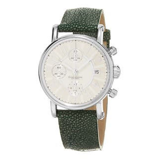 Chronoswiss Women's CH-7523-LL-CL-SI 'Classic' Silver Dial Green Leather Strap Chronograph Swiss Aut|https://ak1.ostkcdn.com/images/products/10517794/P17601749.jpg?impolicy=medium
