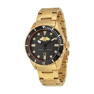 Armani Exchange Men's AX1710 'Smart' Gold-Tone Stainless Steel Watch