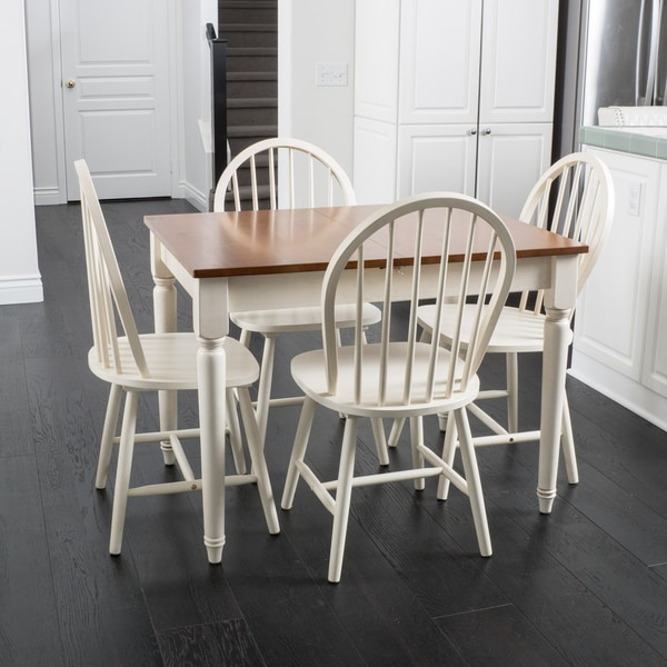 Christopher Knight Home Willie Creek 5-piece Spindle Wood Dining Set with Leaf Extension. Opens flyout.