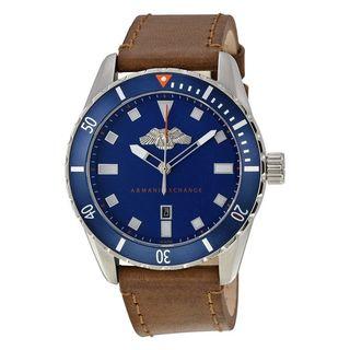 Armani Exchange Men's AX1706 'Smart' Brown Leather Watch