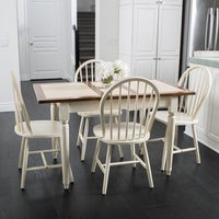 Walnut Creek 5 Piece Spindle Wood Dining Set With Leaf Extension By Christopher Knight Home