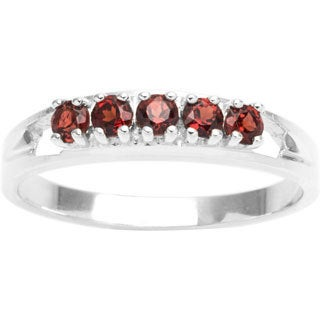 Sterling Silver 5-stone Birthstone Ring