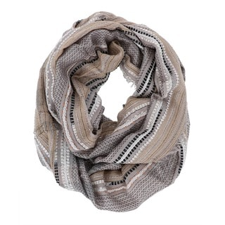 LA77 Women's Sparkly Plaid Infinity Scarf