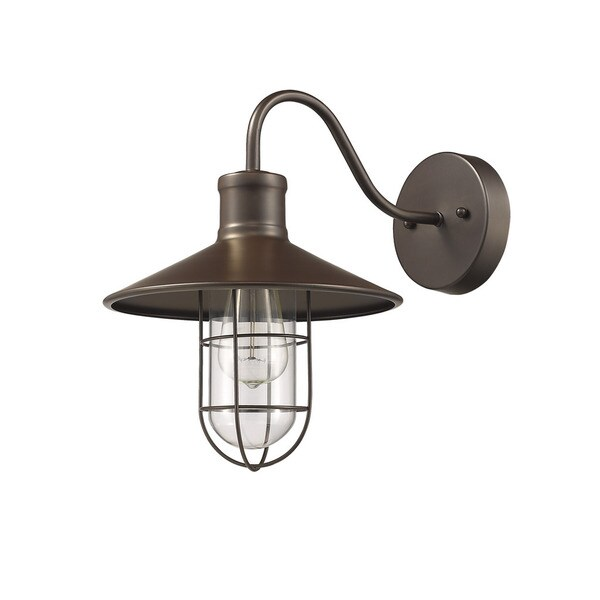 Chloe Loft Industrial 1 Light Oil Rubbed Bronze Wall Sconce Free Shipping