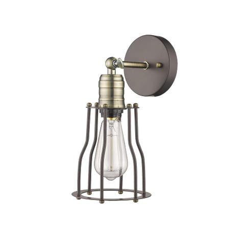 Industrial 1-light Oil Rubbed Bronze Wall Sconce (As Is Item)