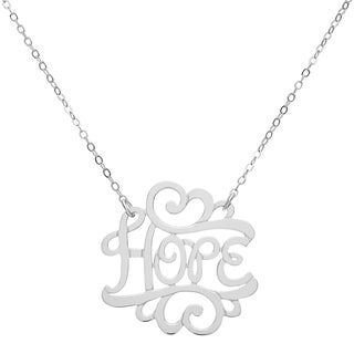 Sterling Silver 'Hope' Necklace - White