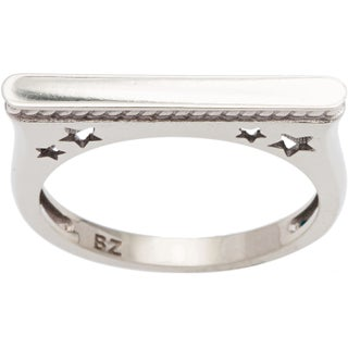 10k White Gold Star Rope Ring (5 options available)