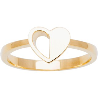 10k Yellow Gold Heart Ring