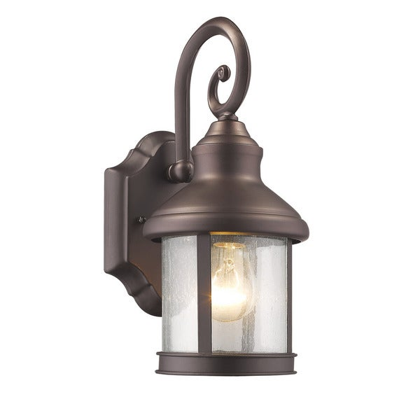 shop chloe transitional 1 light oil rubbed bronze outdoor wall lantern on sale free shipping. Black Bedroom Furniture Sets. Home Design Ideas