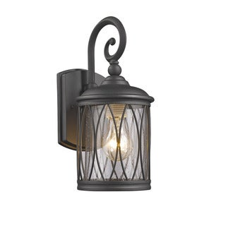 Chloe Transitional 1-light Black Outdoor Wall Lantern