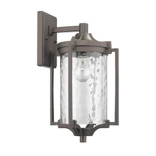 Chloe Transitional 1-light Oil-rubbed Bronze Outdoor Wall Lantern