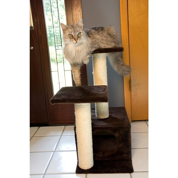 Iconic Pet Sisal Scratching Tree with Square Cave