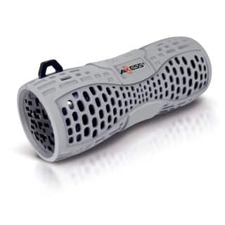Axxess SPBW1035-GY-BK Grey Portable Waterproof Bluetooth Speaker System|https://ak1.ostkcdn.com/images/products/10518075/P17601977.jpg?impolicy=medium