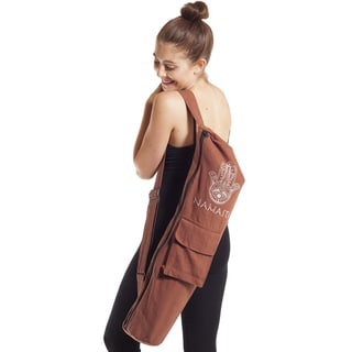 Handmade Namaste Hamsa Yoga Mat Bag (Nepal)