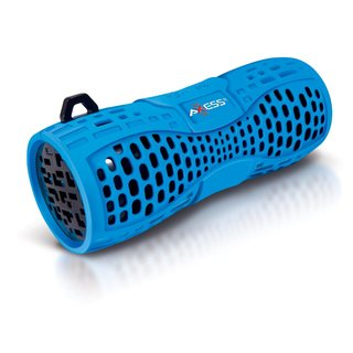 Axxess SPBW1035-BL-BK Blue Portable Water Resistant Bluetooth Speaker System